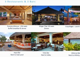Gastronomie hotelu Hilton - Maurícius