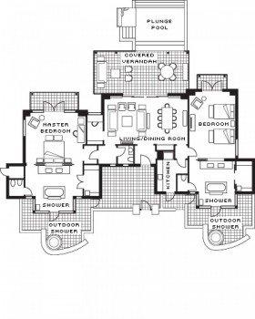 Two-bedroom Garden Residence (212 m²)