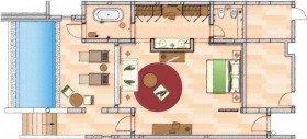 Deluxe Pool Suite partial Seaview